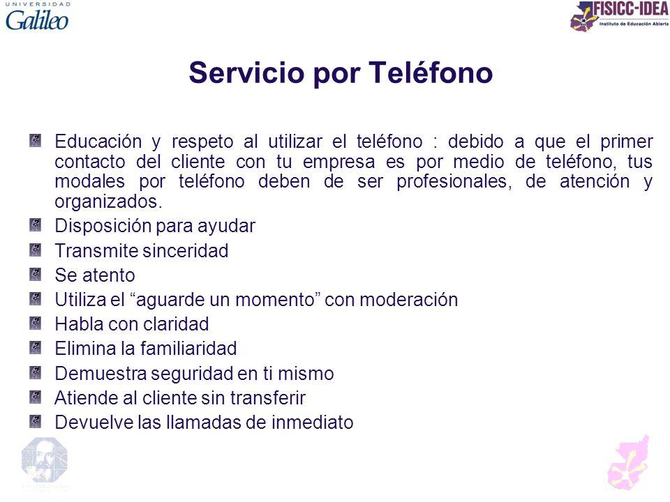 Servicio por Teléfono