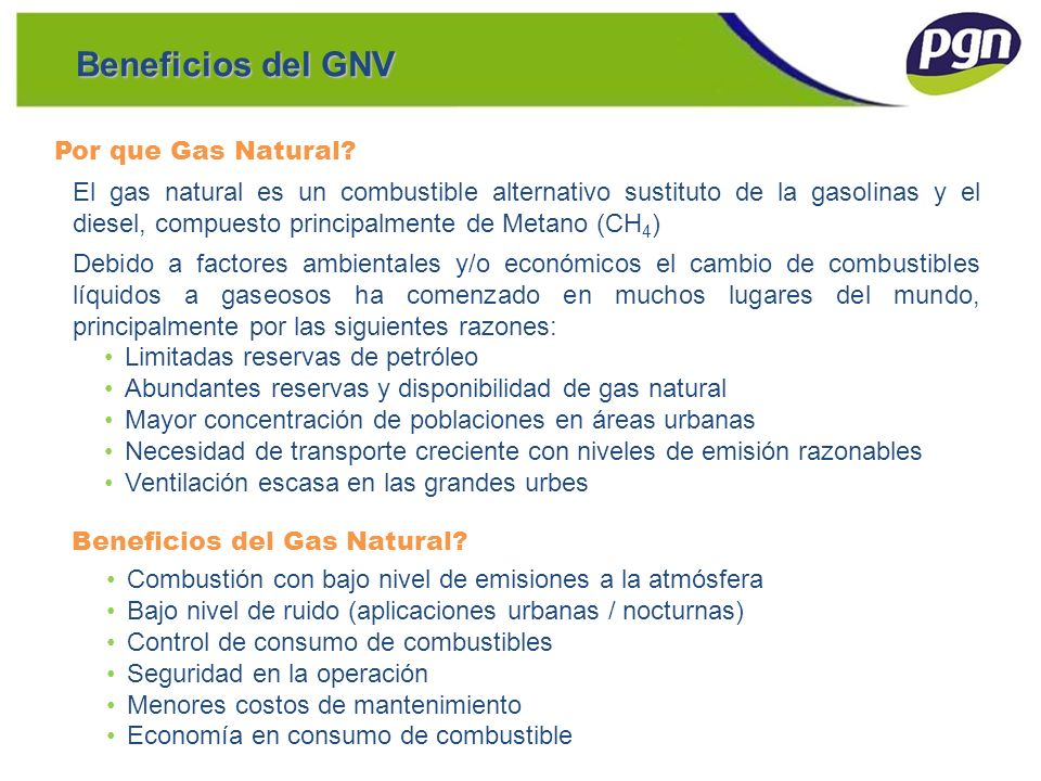 Beneficios del GNV Por que Gas Natural