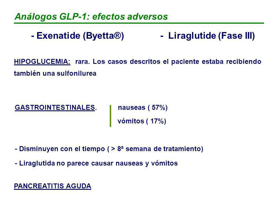 Análogos GLP-1: efectos adversos
