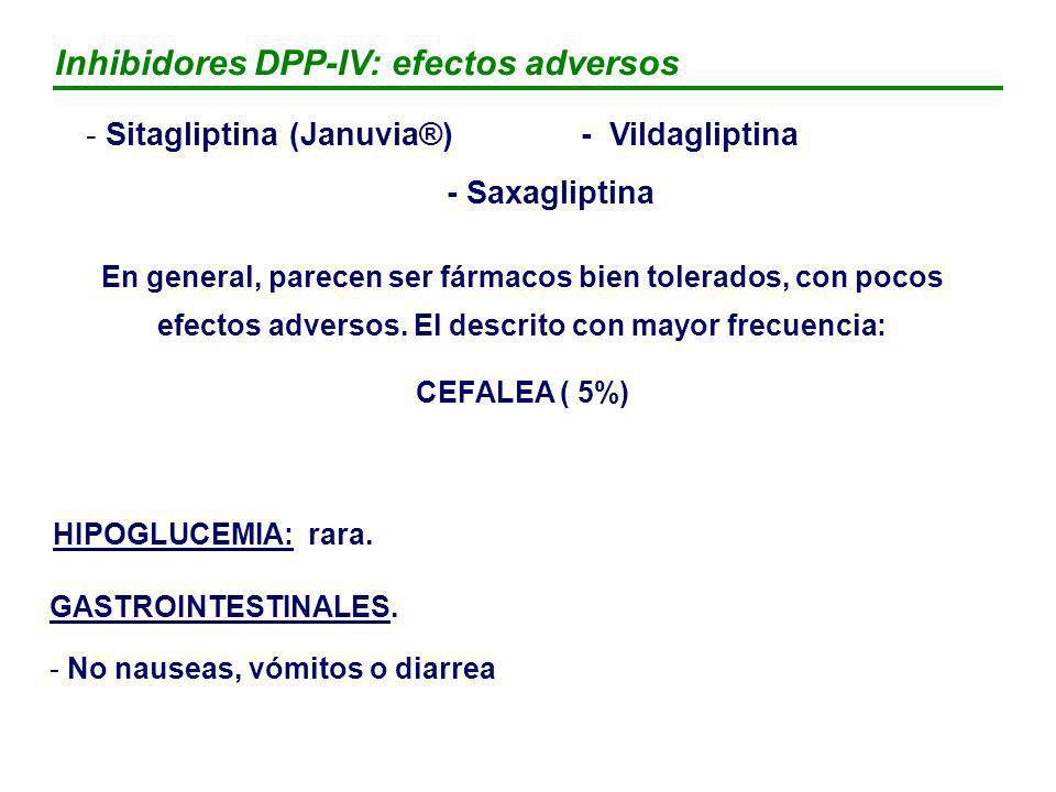 Inhibidores DPP-IV: efectos adversos