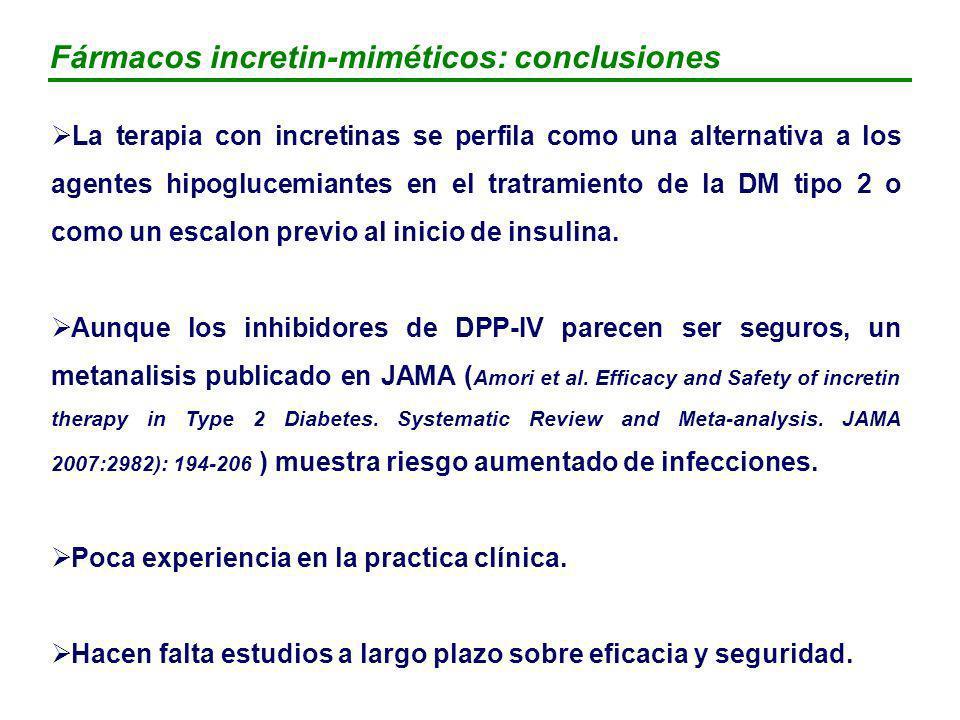 Fármacos incretin-miméticos: conclusiones