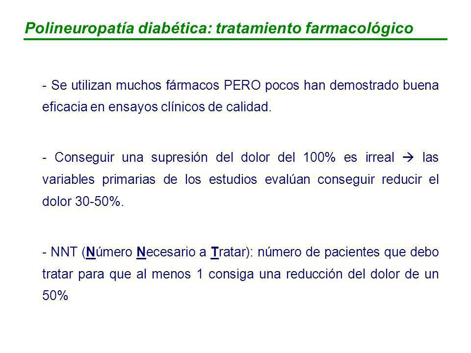 Polineuropatía diabética: tratamiento farmacológico