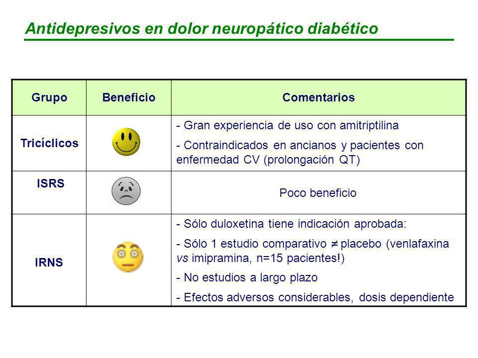 Antidepresivos en dolor neuropático diabético