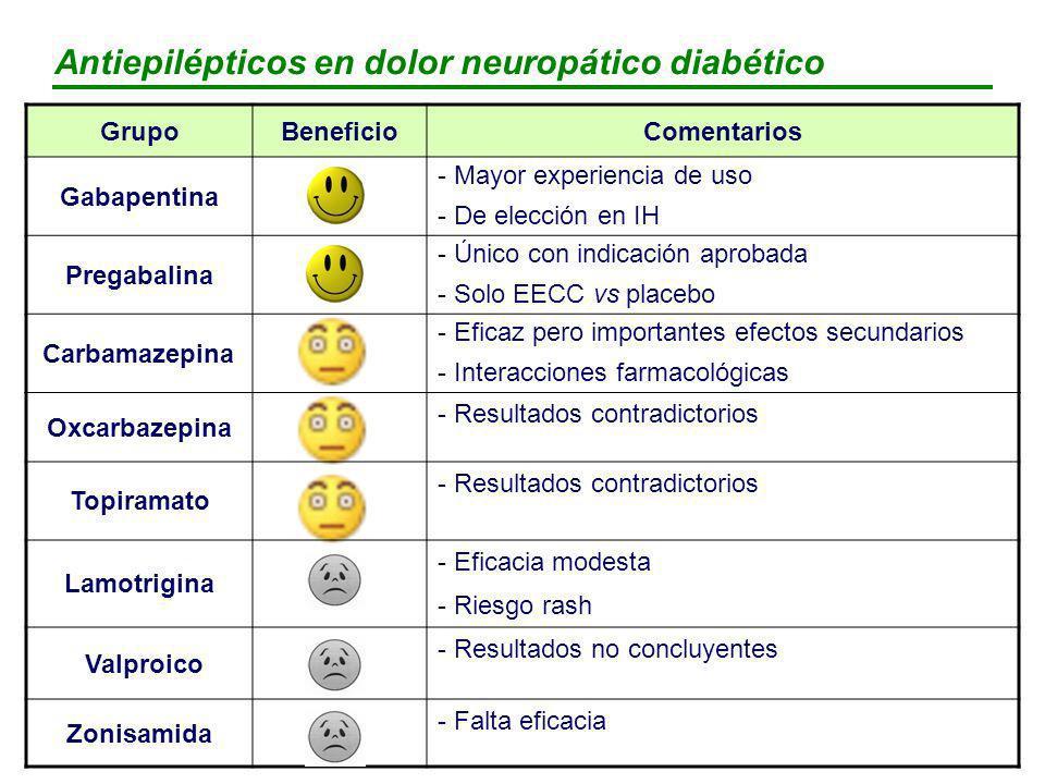 Antiepilépticos en dolor neuropático diabético