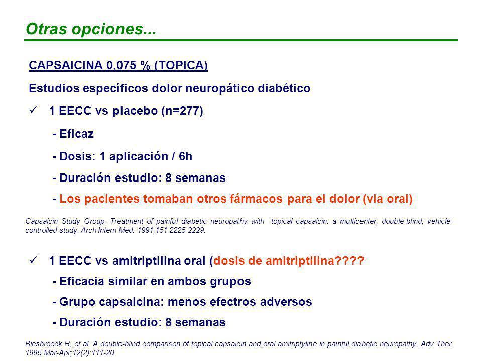 Otras opciones... CAPSAICINA 0,075 % (TOPICA)