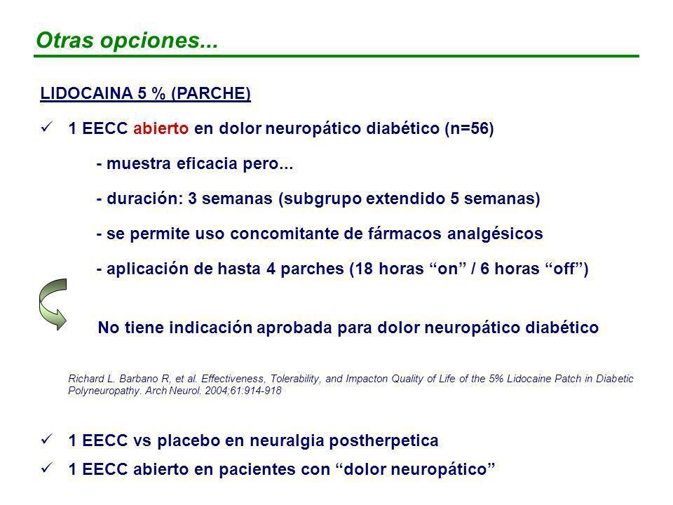 No tiene indicación aprobada para dolor neuropático diabético