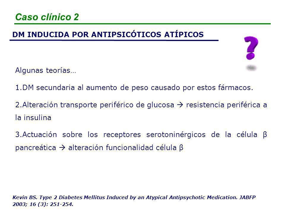 Caso clínico 2 DM INDUCIDA POR ANTIPSICÓTICOS ATÍPICOS