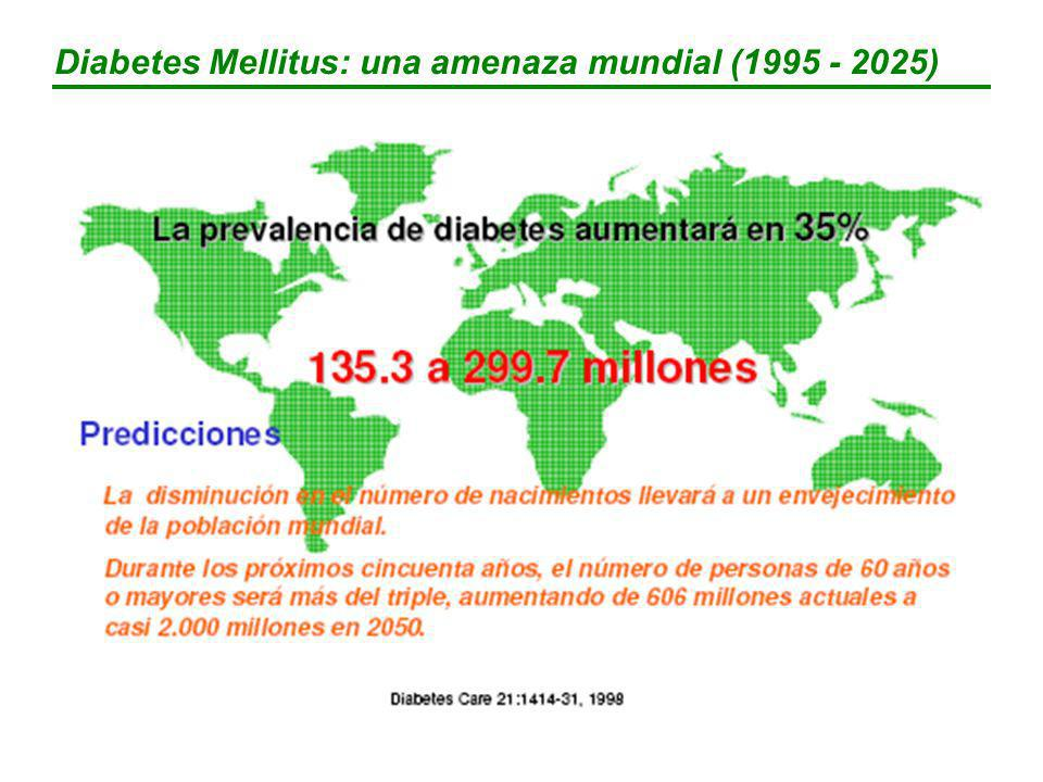 Diabetes Mellitus: una amenaza mundial (1995 - 2025)