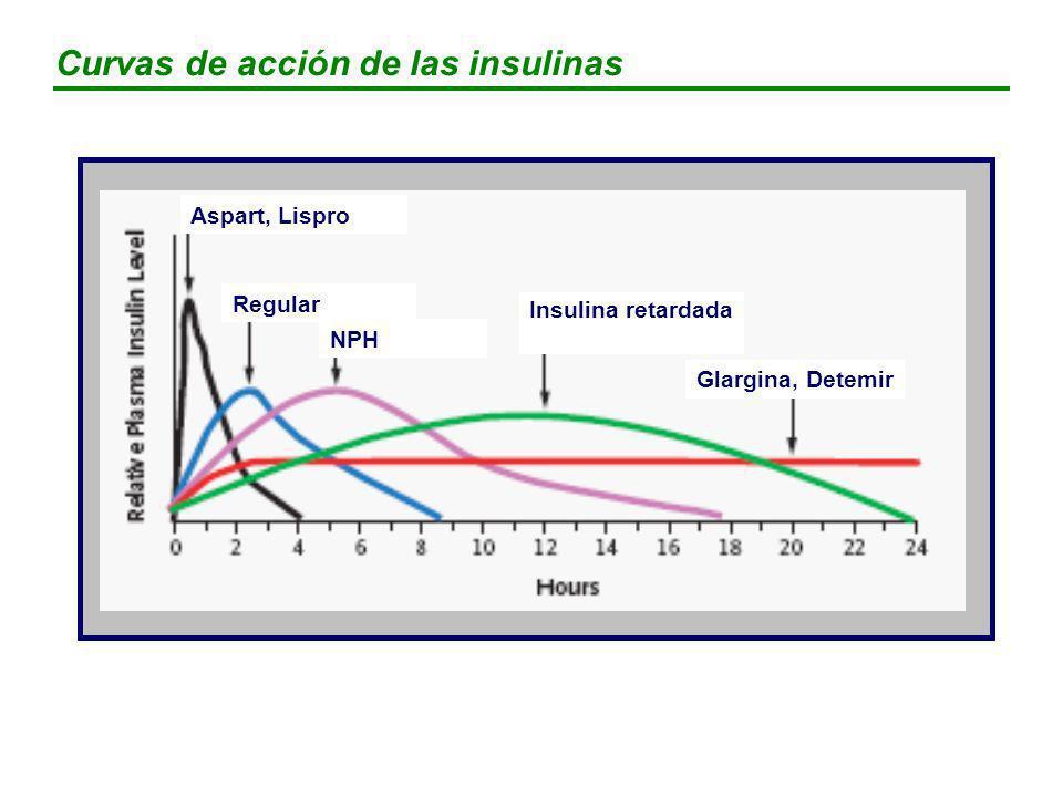 Curvas de acción de las insulinas