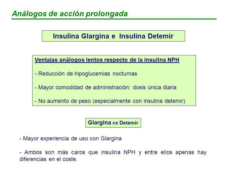 Insulina Glargina e Insulina Detemir