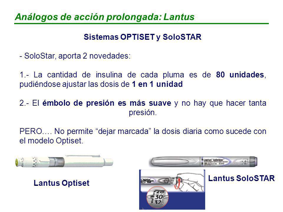 Sistemas OPTISET y SoloSTAR