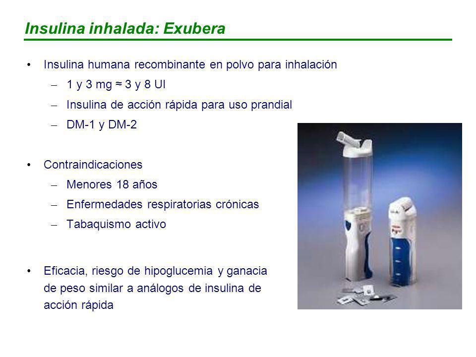 Insulina inhalada: Exubera
