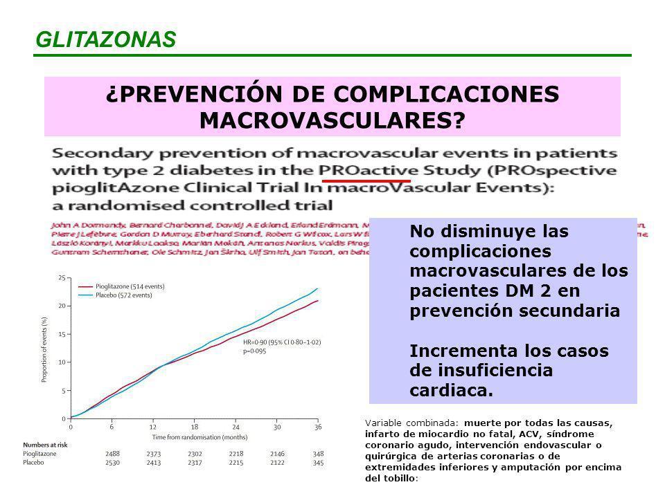 ¿PREVENCIÓN DE COMPLICACIONES MACROVASCULARES