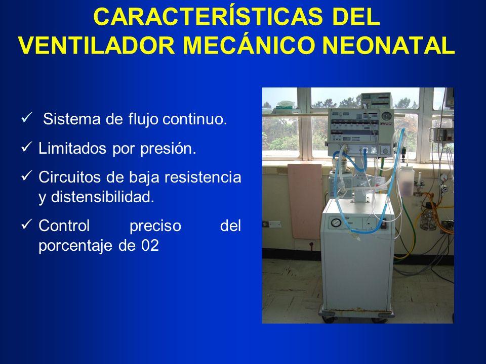 CARACTERÍSTICAS DEL VENTILADOR MECÁNICO NEONATAL