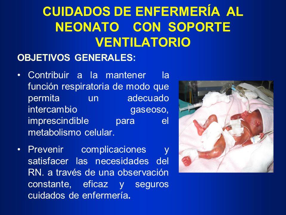 CUIDADOS DE ENFERMERÍA AL NEONATO CON SOPORTE VENTILATORIO