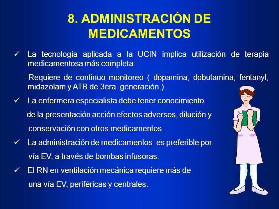 8. ADMINISTRACIÓN DE MEDICAMENTOS