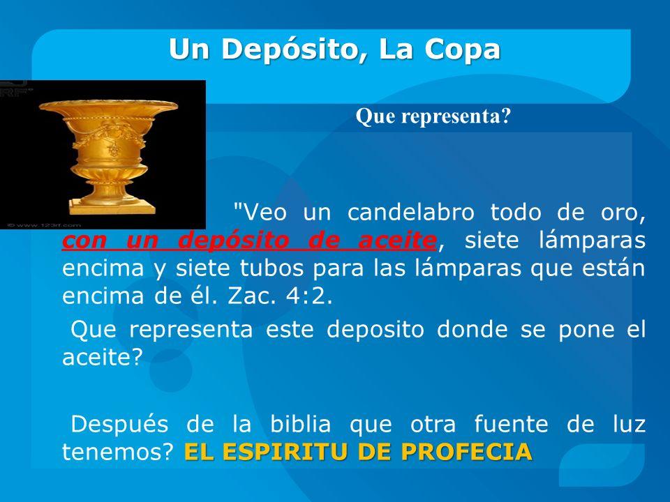 Un Depósito, La Copa Que representa
