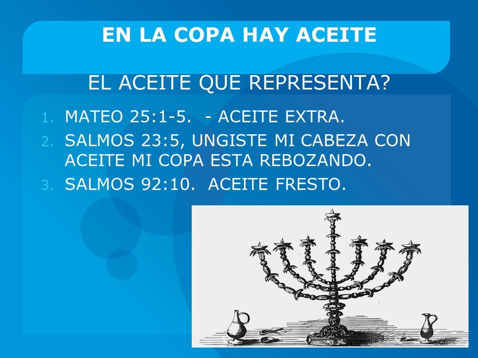 EN LA COPA HAY ACEITE EL ACEITE QUE REPRESENTA