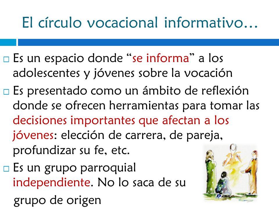 El círculo vocacional informativo…