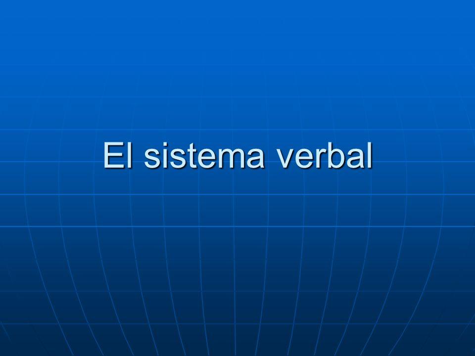 El sistema verbal