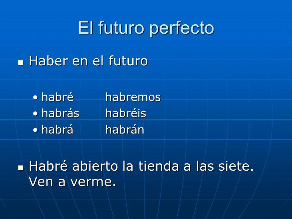 El futuro perfecto Haber en el futuro