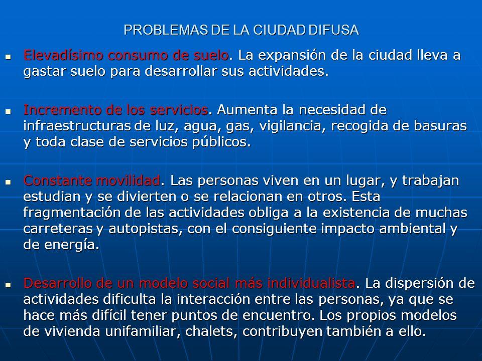 PROBLEMAS DE LA CIUDAD DIFUSA