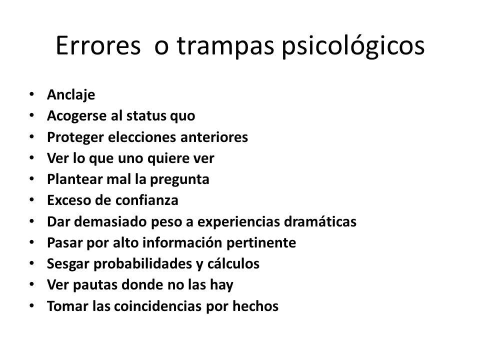 Errores o trampas psicológicos