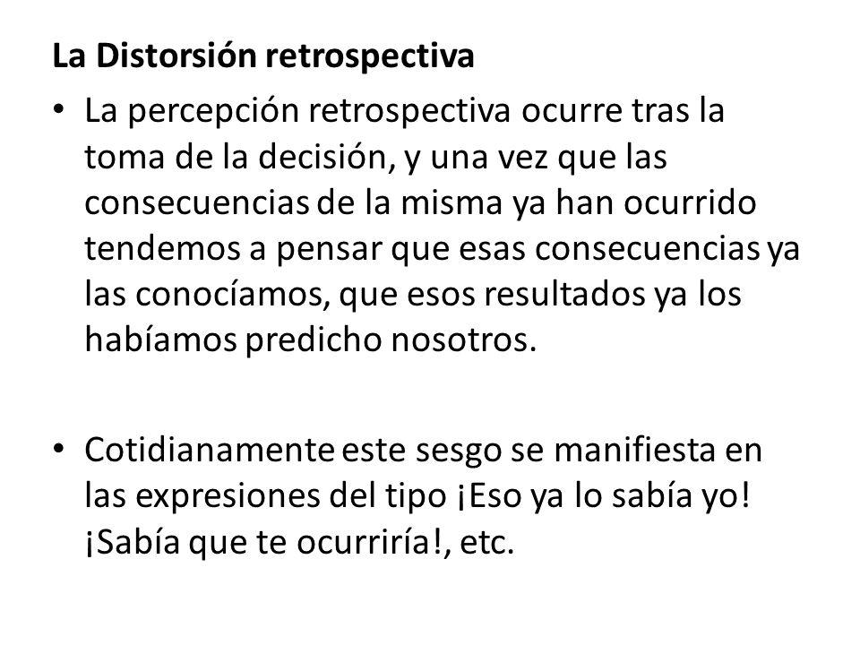La Distorsión retrospectiva