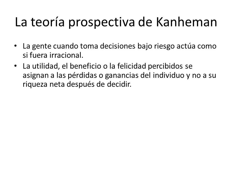 La teoría prospectiva de Kanheman