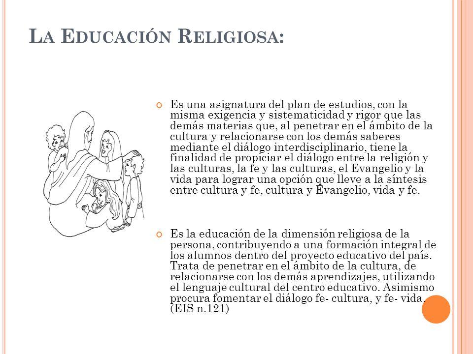 La Educación Religiosa: