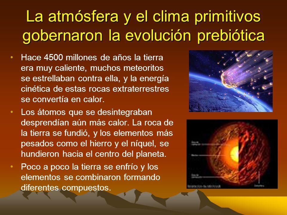 La atmósfera y el clima primitivos gobernaron la evolución prebiótica