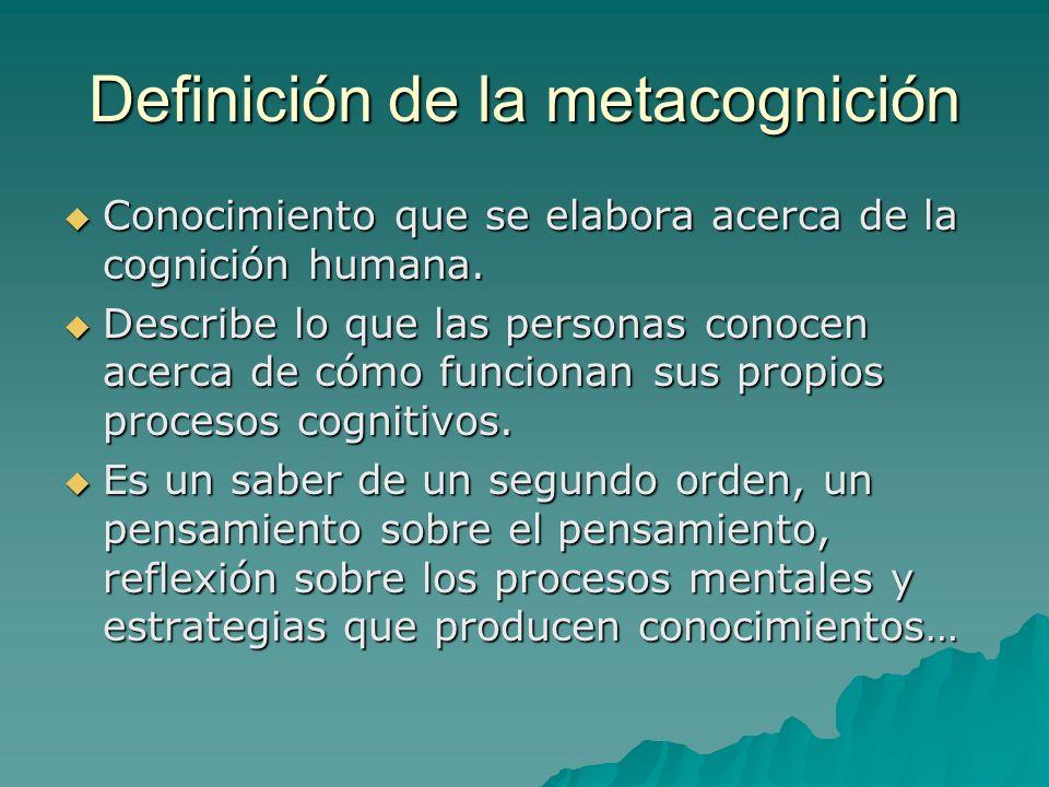 Definición de la metacognición