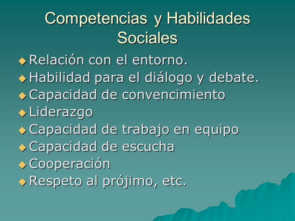 Competencias y Habilidades Sociales