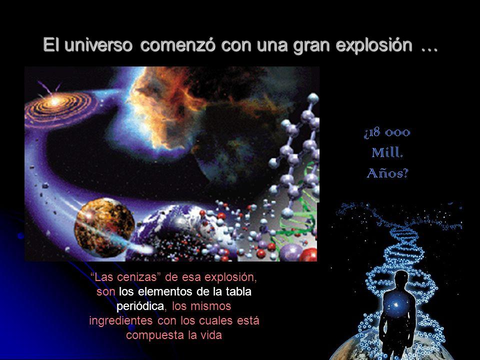 El universo comenzó con una gran explosión …