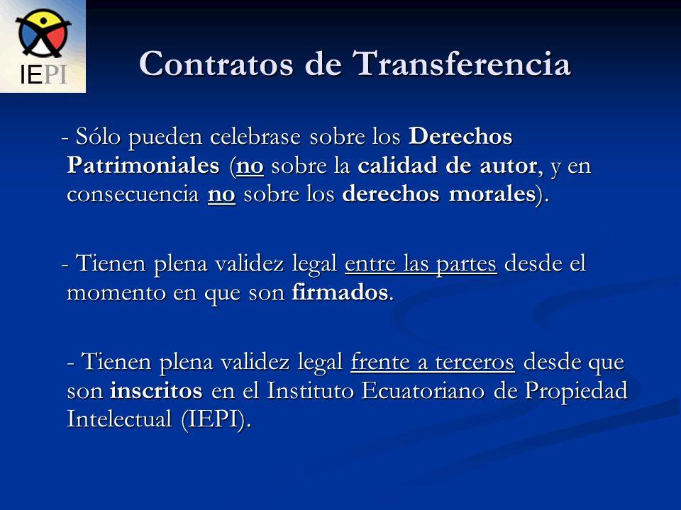Contratos de Transferencia