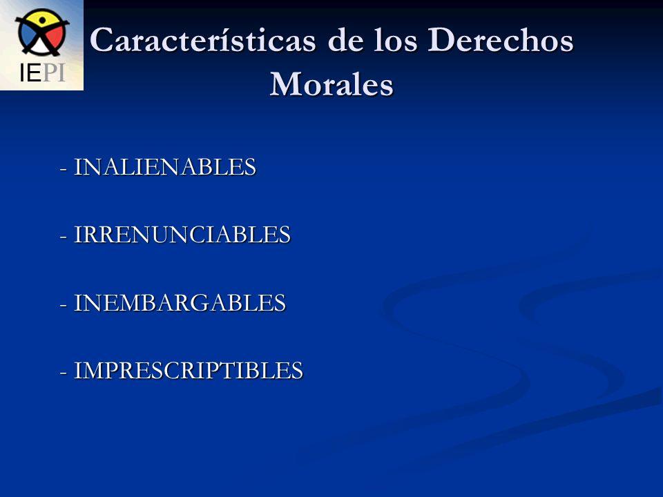 Características de los Derechos Morales