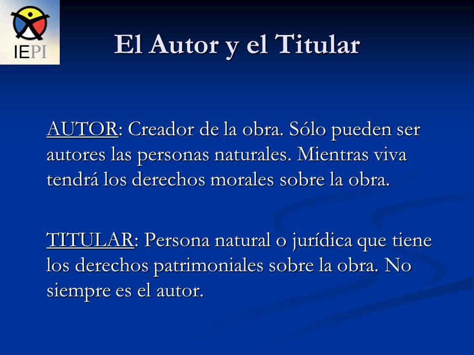 El Autor y el Titular