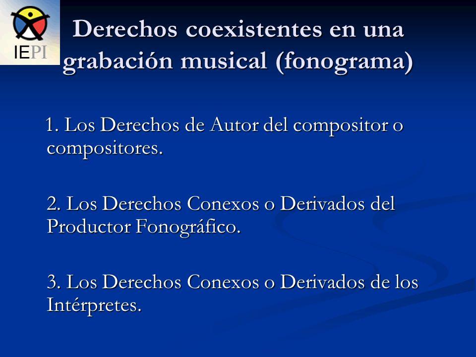 Derechos coexistentes en una grabación musical (fonograma)