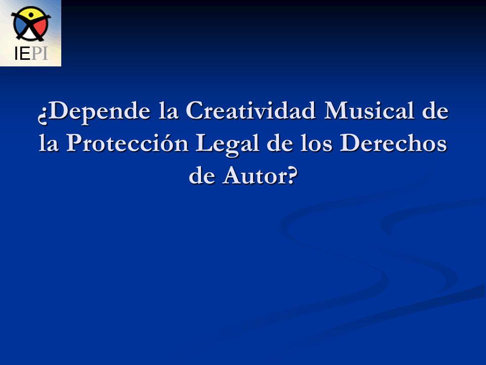 ¿Depende la Creatividad Musical de la Protección Legal de los Derechos de Autor