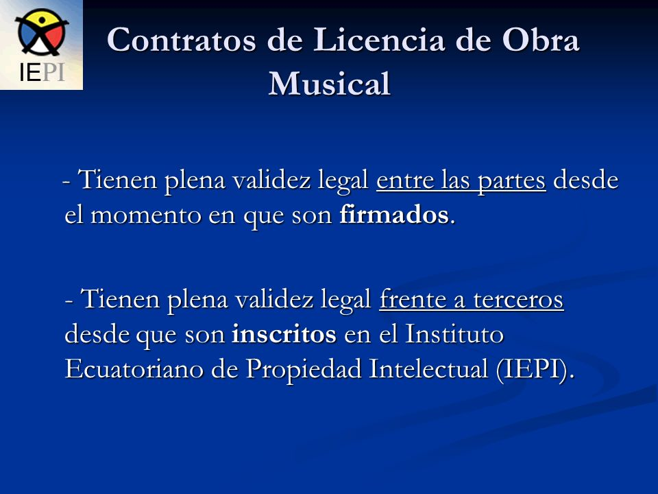 Contratos de Licencia de Obra Musical
