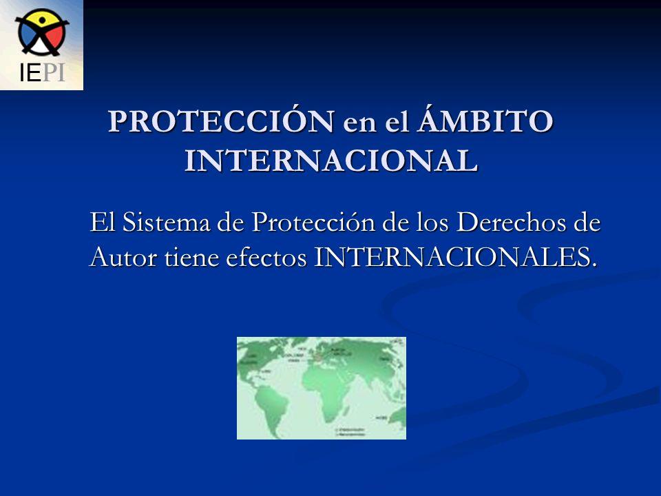 PROTECCIÓN en el ÁMBITO INTERNACIONAL