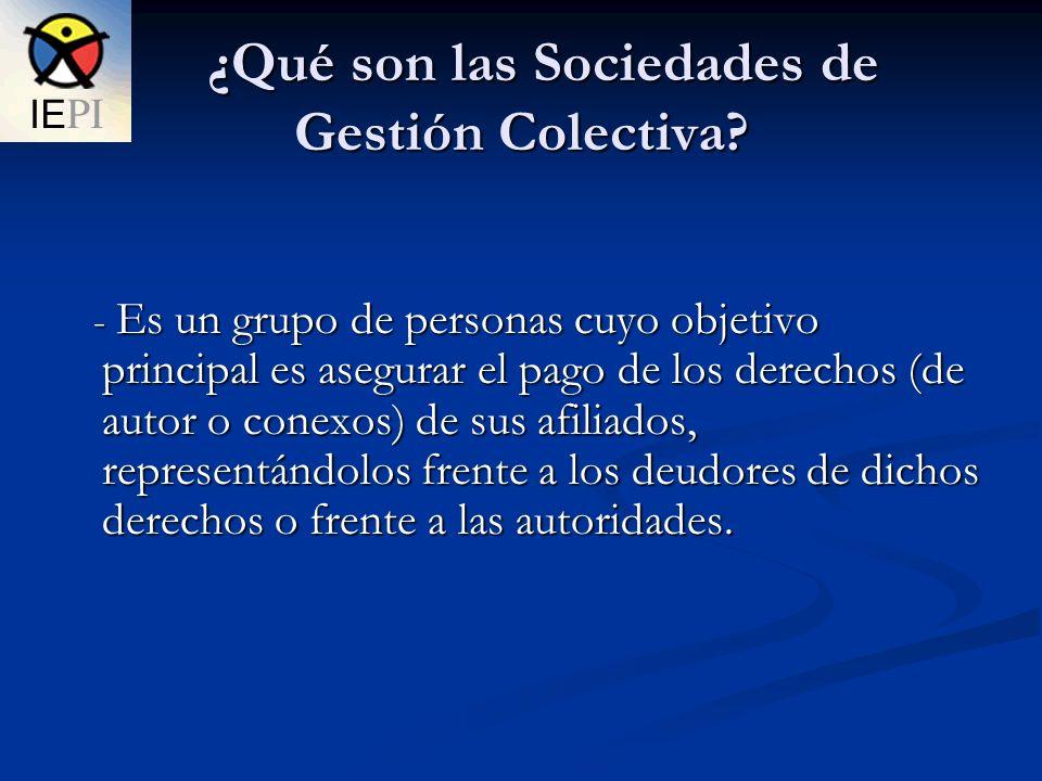 ¿Qué son las Sociedades de Gestión Colectiva