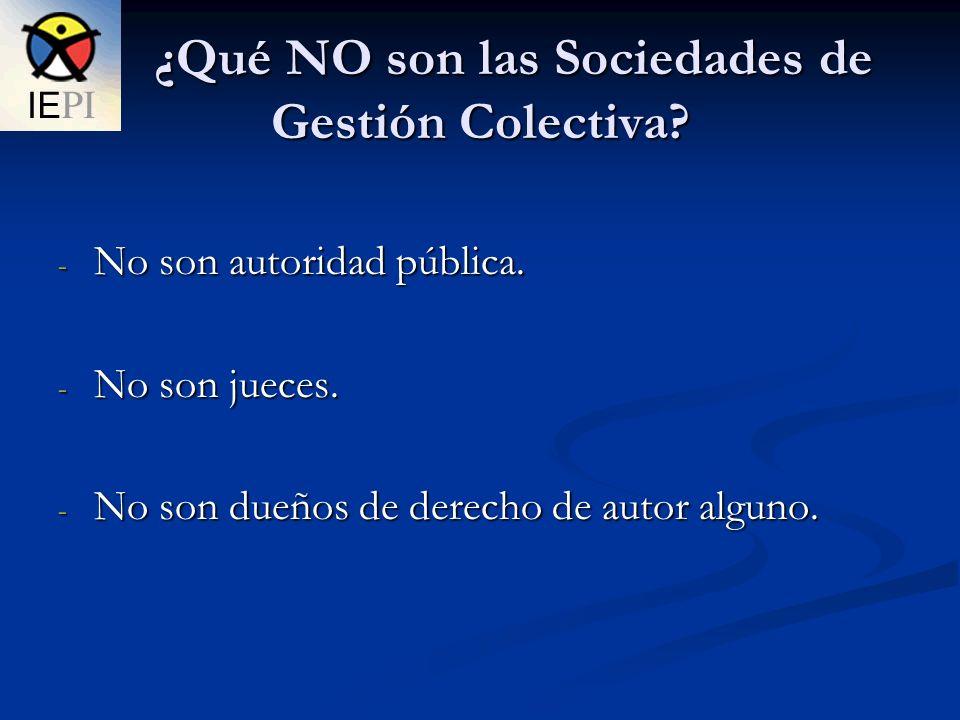 ¿Qué NO son las Sociedades de Gestión Colectiva