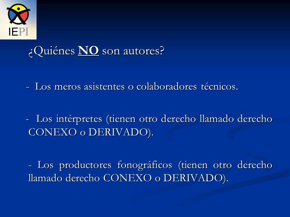 ¿Quiénes NO son autores