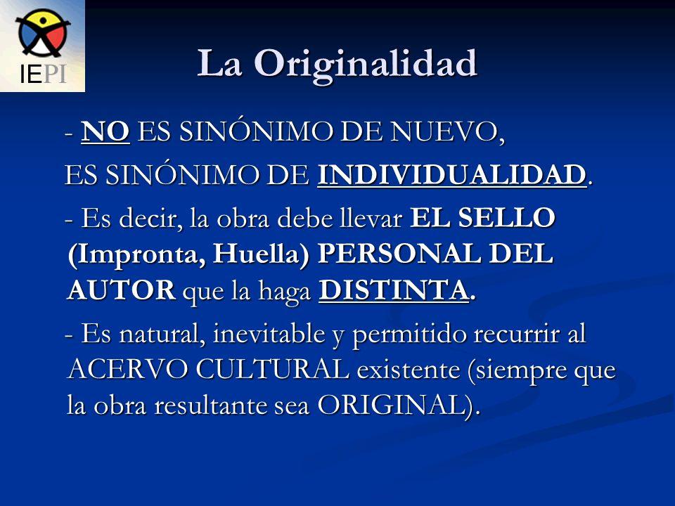 La Originalidad - NO ES SINÓNIMO DE NUEVO,