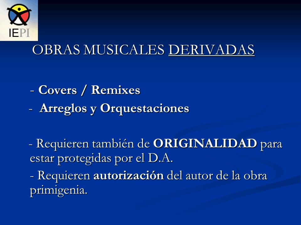- Covers / Remixes OBRAS MUSICALES DERIVADAS
