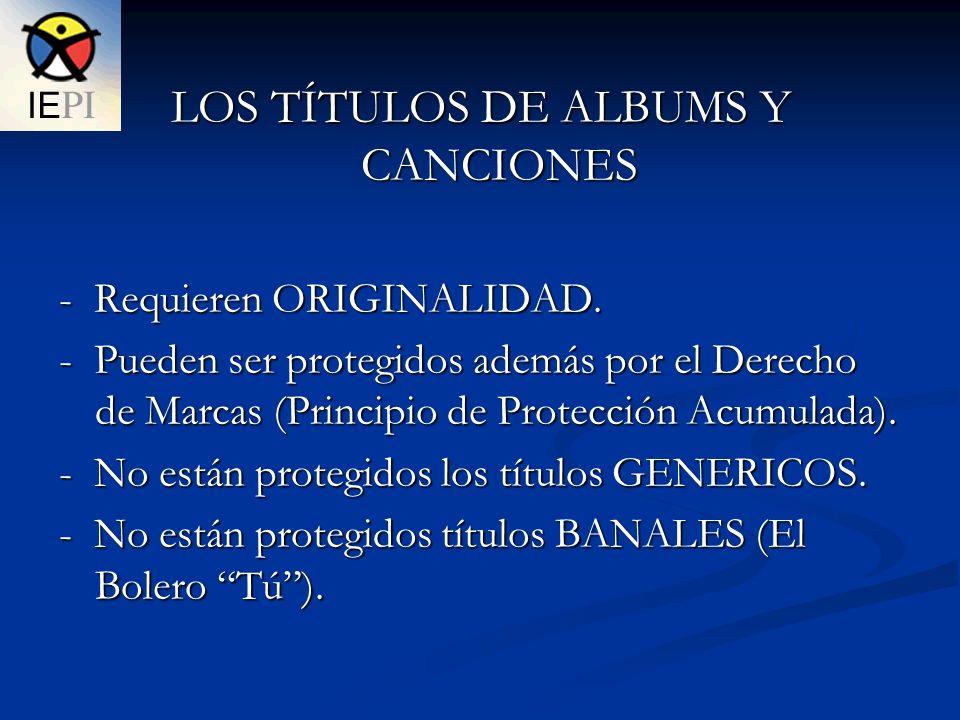 LOS TÍTULOS DE ALBUMS Y CANCIONES