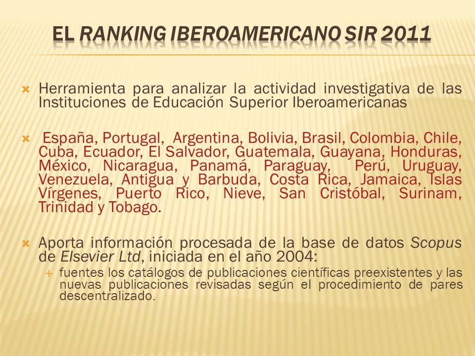 El Ranking Iberoamericano SIR 2011