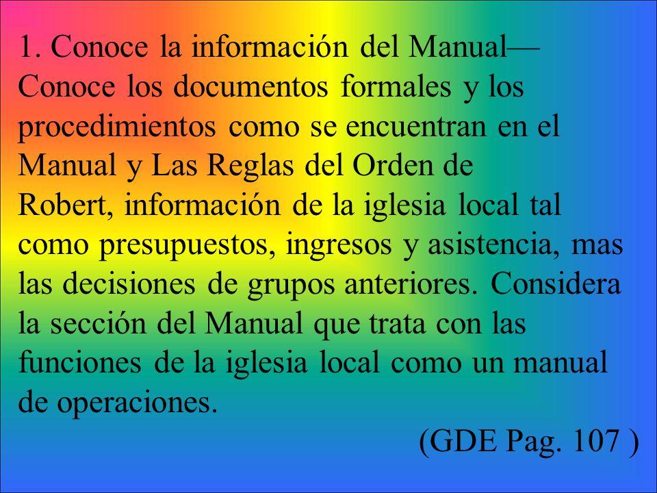 1. Conoce la información del Manual—Conoce los documentos formales y los