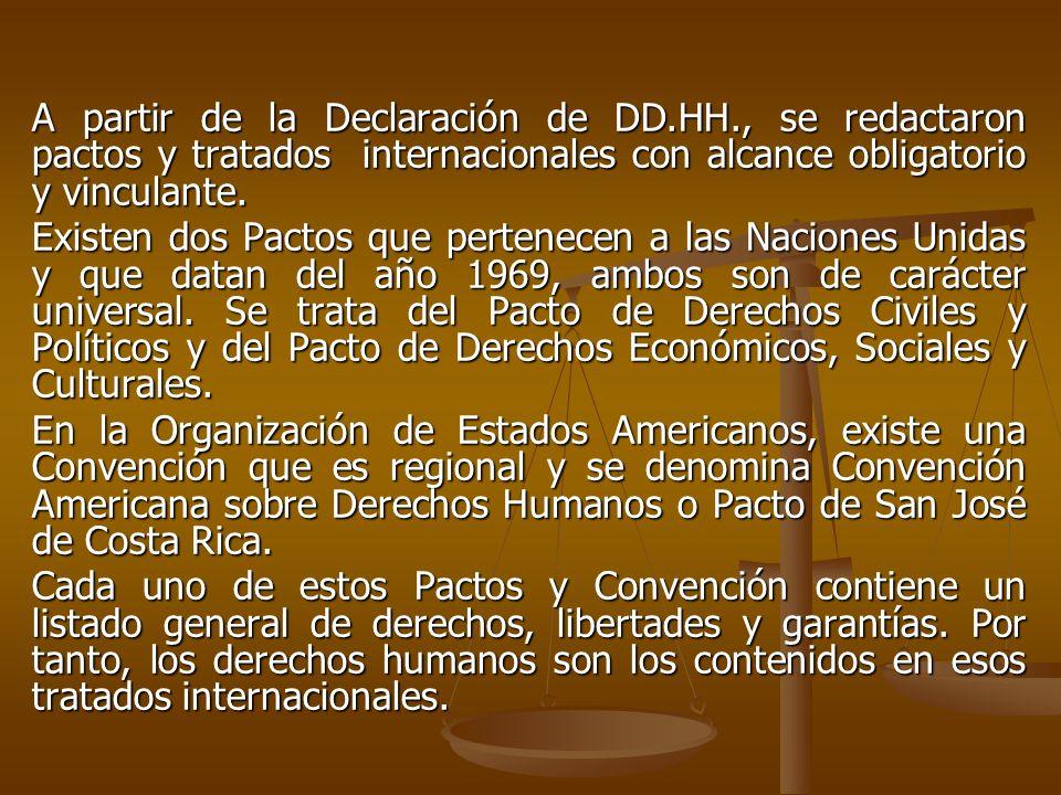 A partir de la Declaración de DD. HH